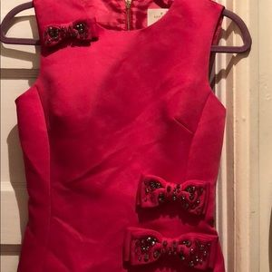 Kate Spade Hot Pink Bow Dress